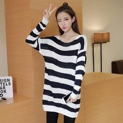 lilygirl - Striped Long Sweater
