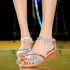 Sunsteps - Rhinestone Wedge Sandals