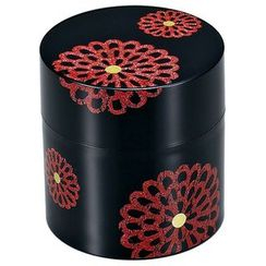 Hakoya - Hakoya Tea Caddy Flower Pattern Black