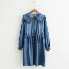 Angel Love - Long-Sleeve Denim A-line Dress