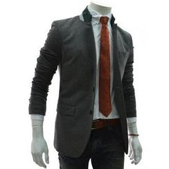 TheLees - Mandarin-Collar Double-Breast Blazer