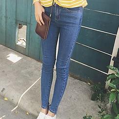 Glen Glam - High-Waist Skinny Jeans
