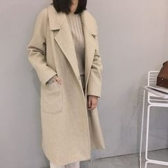 Windflower - Notched-Lapel Buttoned Coat