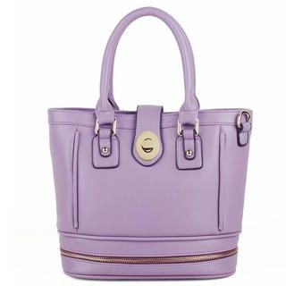 Heilin - Faux-Leather Twist-Lock Tote