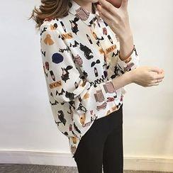 Little V - Print Chiffon Shirt