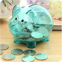 VANDO - Transparent Pig Coin Bank