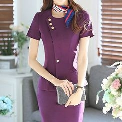 Caroe - Set: Short-Sleeve Blazer + Skirt