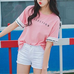 Ashlee - Letter Short-Sleeve T-shirt