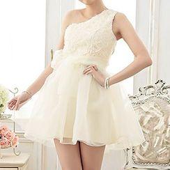 Holiday Lady - 露肩花形派對連衣裙