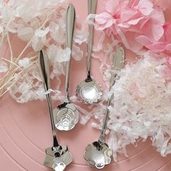 Ms Zaa - Stainless Steel Floral Spoons