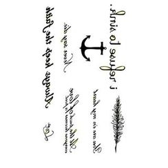 Alinda - Letter Faux Tattoo Stickers
