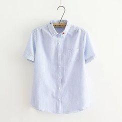 Aigan - Short-Sleeve Striped Shirt