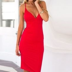 Eloqueen - Sleeveless Cross-Strap Dress