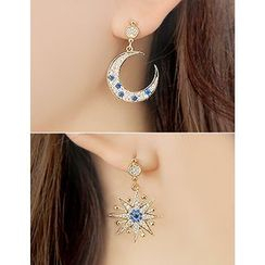 soo n soo - Rhinestone Dangle Earrings