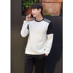 GERIO - Round-Neck Color-Block T-Shirt