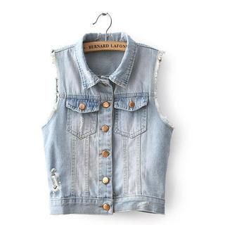 JVL - Sleeveless Denim Vest