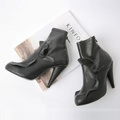 Cherryville - Frilled High-Heel Ankle Boots