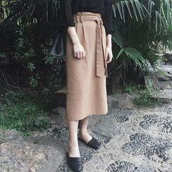 Cloud Nine - Tie Midi Skirt
