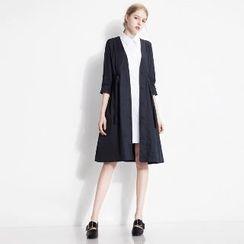 Halona - Set: Trench Coat + Shirt