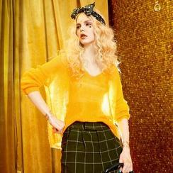ELF SACK - Wool Blend Distressed Light Knit Top