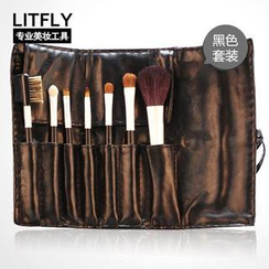 Litfly - Make-Up Brush Set (Black)