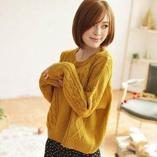Tokyo Fashion - Cable-Knit Sweater
