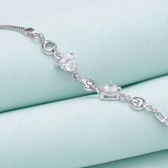 Zundiao - Sterling Silver Crystal Bracelet