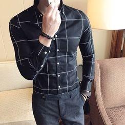 KANGI - Long-Sleeve Check Shirt