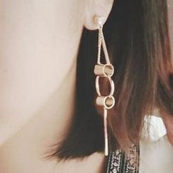 Ticoo - Geometric Drop Earrings