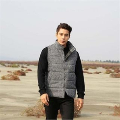 BYMONO - Stand-Collar Buttoned Padded Vest