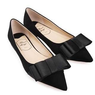 Pangmama - Bow-Accent Pointy Flats