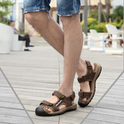 MARTUCCI - Genuine-Leather Velcro Sandals