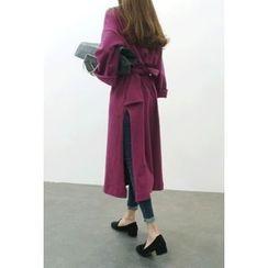 ATTYSTORY - Wide-Sleeve Tie-Waist Maxi Dress