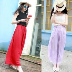 Whitney's Shop - Chiffon Wide Leg Pants