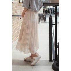 CHERRYKOKO - Pleated Midi Skirt