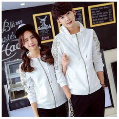 Sienne - Set: Matching Couple Print Hoodie + Sweatpants