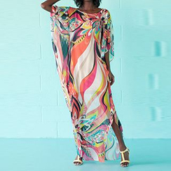 Sunset Hours - Printed Chiffon Cover-Up
