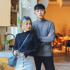 Simpair - Couple Matching Mock Neck Sweater