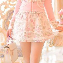 Candy Rain - Floral A-Line Skirt