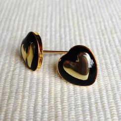 MyLittleThing - Resin Heart Earrings (Black)