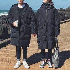 JUN.LEE - Hooded Padded Long Coat