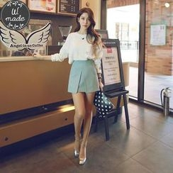 WITH IPUN - Slit-Front A-Line Skirt