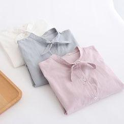 PP家 - 蝴蝶結領襯衫