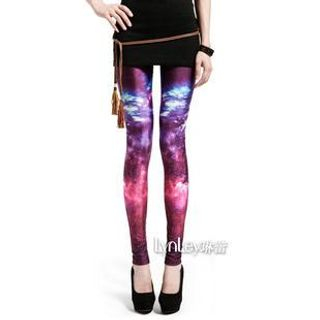 Lynley - Galaxy-Print Leggings