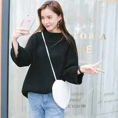 ZIZI - Batwing Mock-neck Knit Top