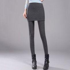 Cottony - 假兩件裙連內搭褲