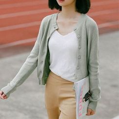 Clair Fashion - 韩版简约百搭针织开衫 小外套