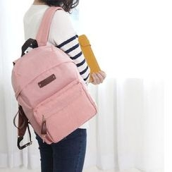 BABOSARANG - Faux-Leather Trim Backpack