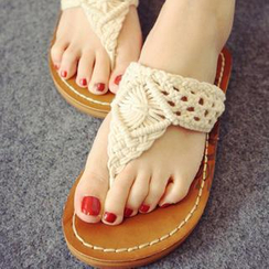 Solejoy - Knit Strap Flip-Flops