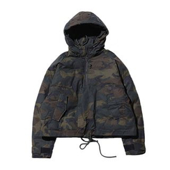 Chuoku - Hooded Padded Camo Jacket